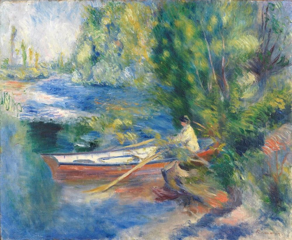 Pierre Auguste Renoir Au Bord De l Eau by 1885, Canvas, Pierre Auguste Renoir, kanvas tablo, canvas print sales