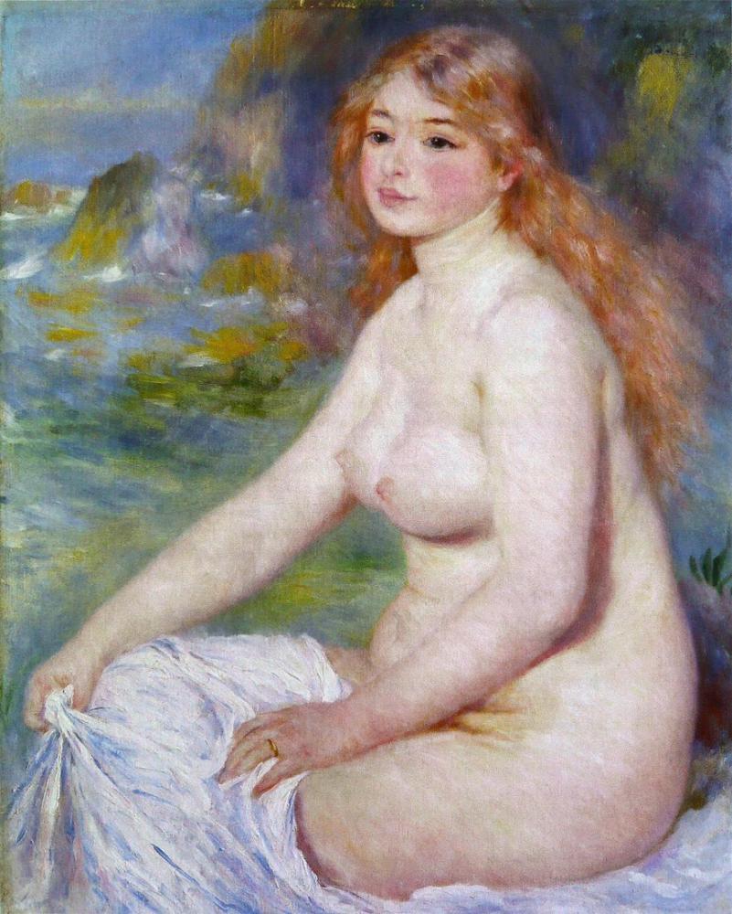 Pierre Auguste Renoir Baigneuse Blonde, Canvas, Pierre Auguste Renoir, kanvas tablo, canvas print sales