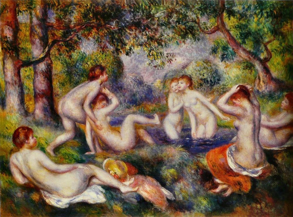 Pierre Auguste Renoir Baigneuses Dans La Foret, Canvas, Pierre Auguste Renoir, kanvas tablo, canvas print sales