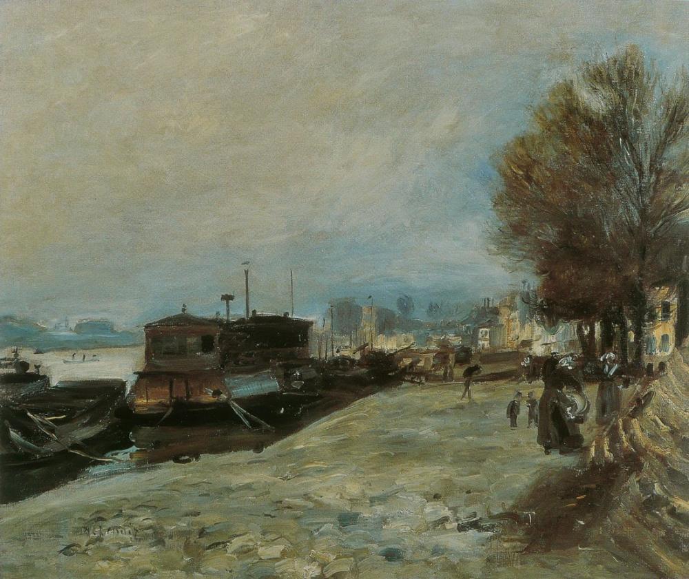 Pierre Auguste Renoir Bateau Lavoir Sur La Seine, Canvas, Pierre Auguste Renoir, kanvas tablo, canvas print sales