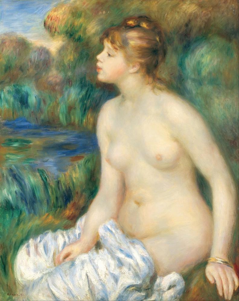 Pierre Auguste Renoir Bather 4, Kanvas Tablo, Pierre Auguste Renoir, kanvas tablo, canvas print sales
