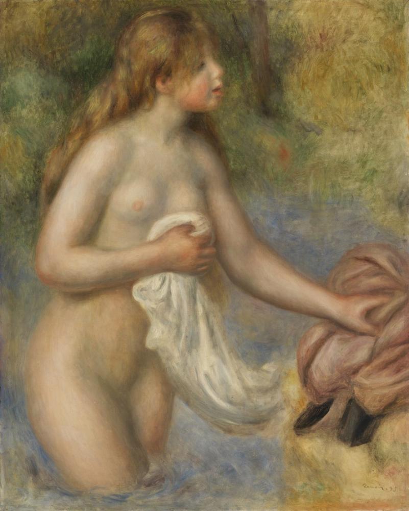 Pierre Auguste Renoir Bather 3, Kanvas Tablo, Pierre Auguste Renoir, kanvas tablo, canvas print sales