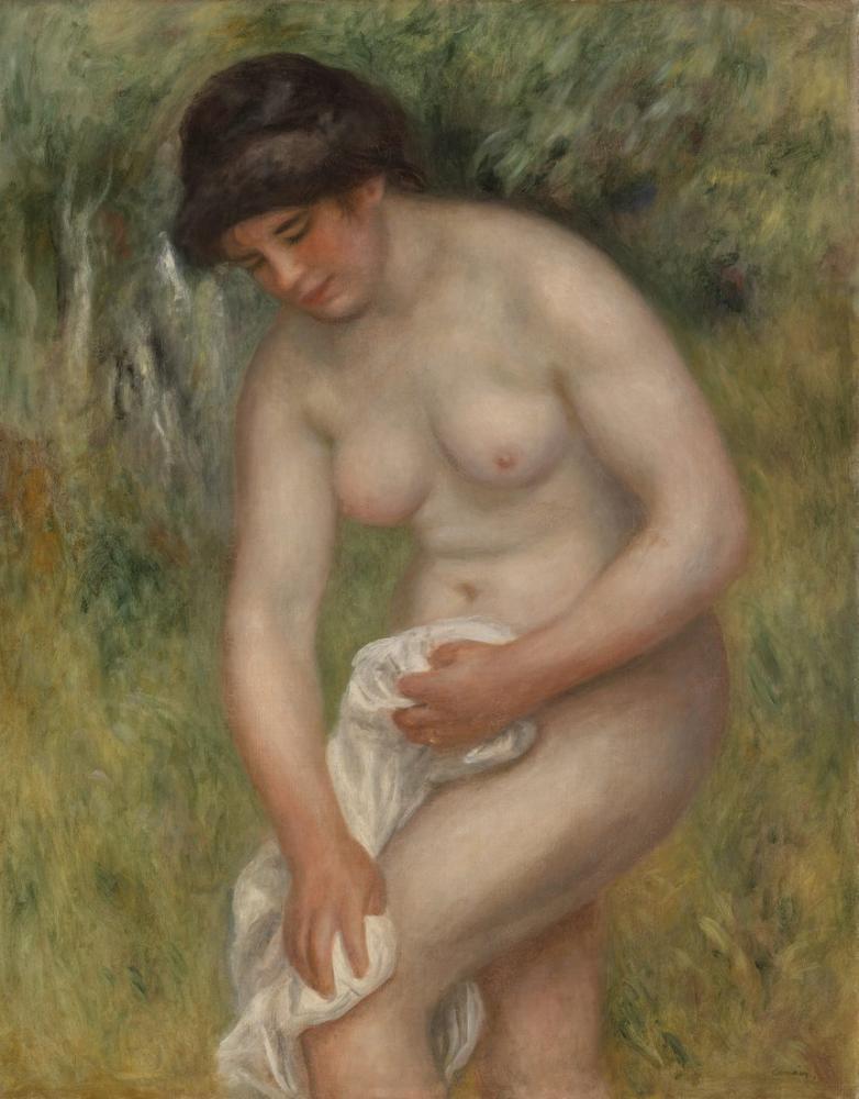 Pierre Auguste Renoir Bather Kendini Kuruyor, Kanvas Tablo, Pierre Auguste Renoir, kanvas tablo, canvas print sales