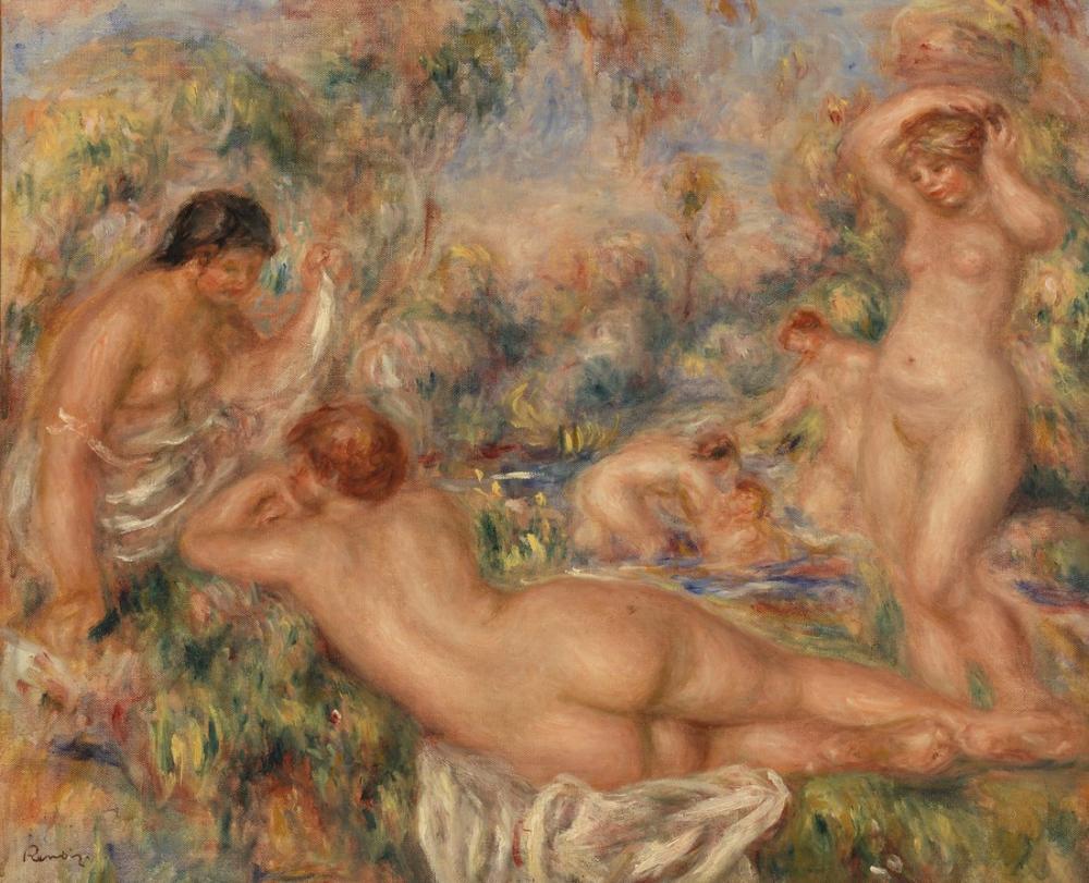 Pierre Auguste Renoir Bathers, Canvas, Pierre Auguste Renoir, kanvas tablo, canvas print sales