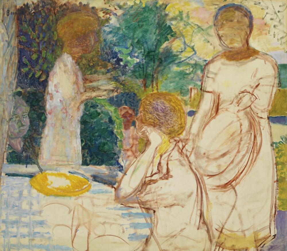 Pierre Bonnard Young Women In The Garden, Canvas, Pierre Bonnard, kanvas tablo, canvas print sales