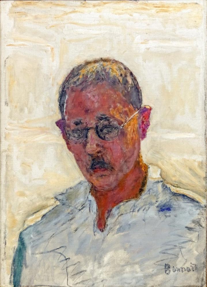 Pierre Bonnard Otoportre Beyaz Zemin Üzerine Açık Yakalı Gömlek, Kanvas Tablo, Pierre Bonnard, kanvas tablo, canvas print sales