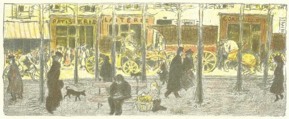 Pierre Bonnard Boulevard, Canvas, Pierre Bonnard, kanvas tablo, canvas print sales