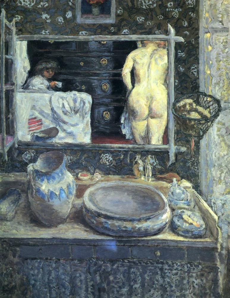 Pierre Bonnard Yıkama Standında Ayna, Kanvas Tablo, Pierre Bonnard, kanvas tablo, canvas print sales