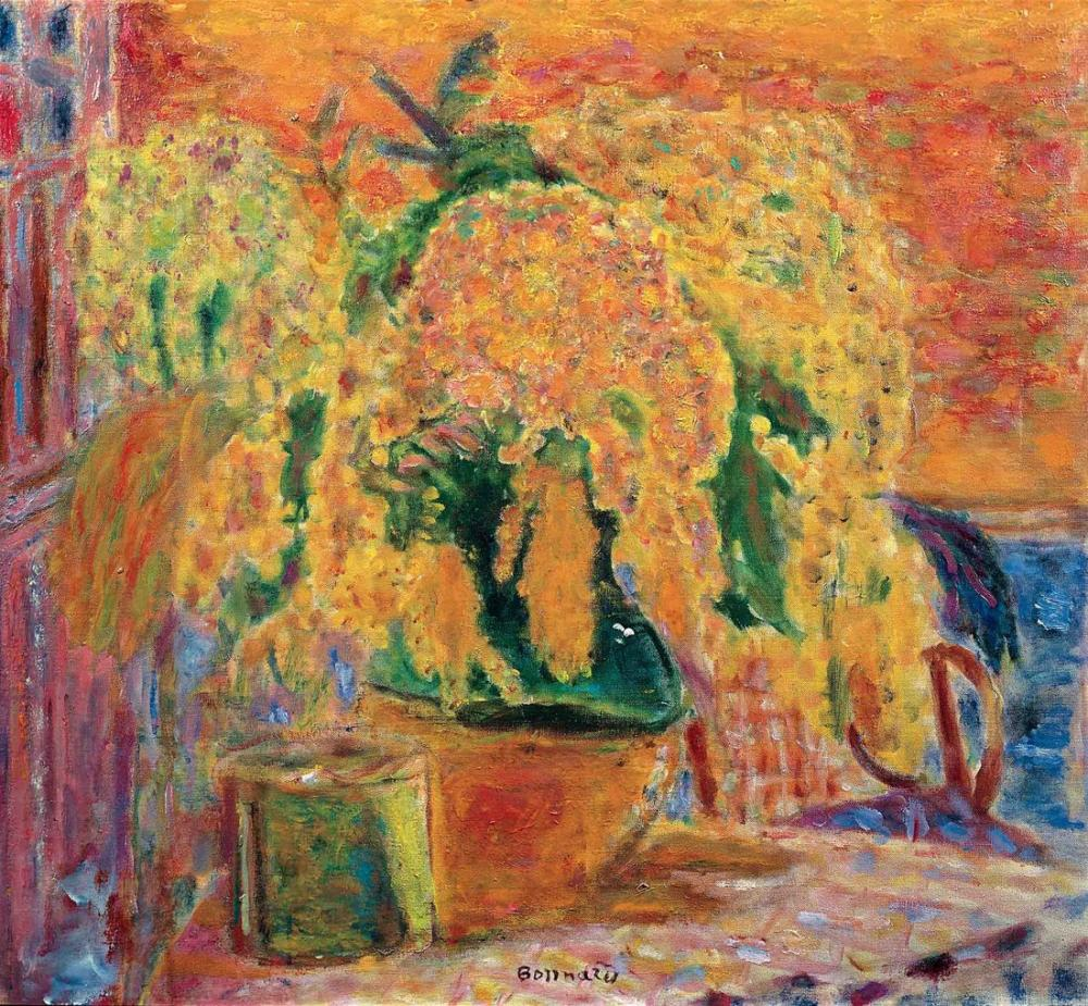Pierre Bonnard Bouquet Of Mimosas, Canvas, Pierre Bonnard, kanvas tablo, canvas print sales