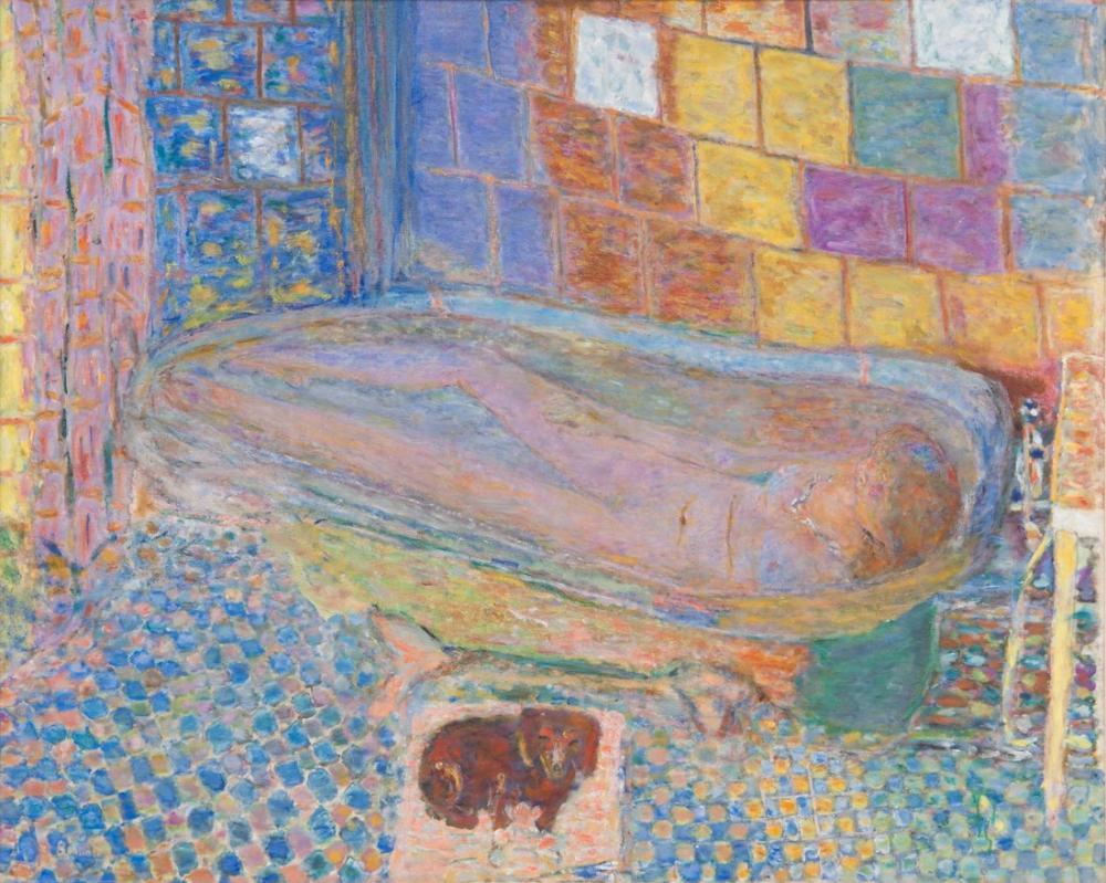 Pierre Bonnard Küvette Çıplak, Kanvas Tablo, Pierre Bonnard, kanvas tablo, canvas print sales