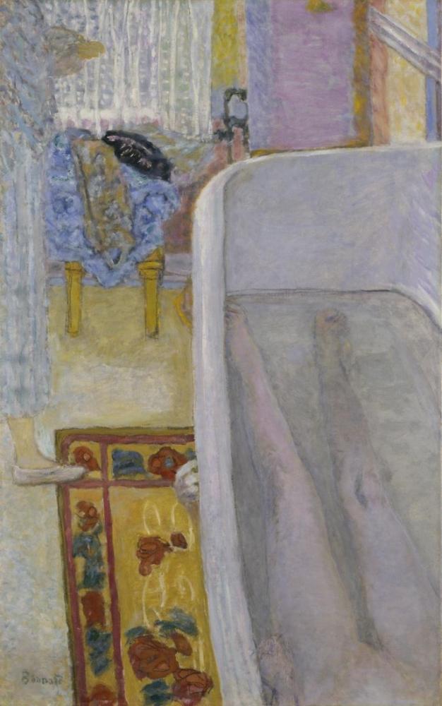Pierre Bonnard Banyoda Çıplak, Kanvas Tablo, Pierre Bonnard, kanvas tablo, canvas print sales