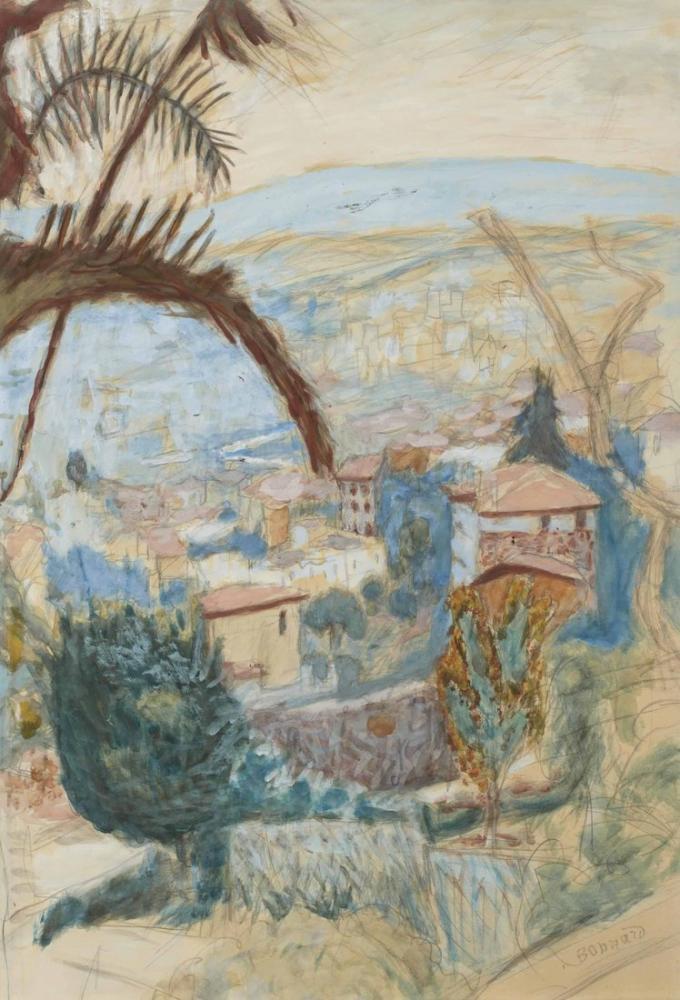 Pierre Bonnard Paysage Du Cannet II, Canvas, Pierre Bonnard, kanvas tablo, canvas print sales