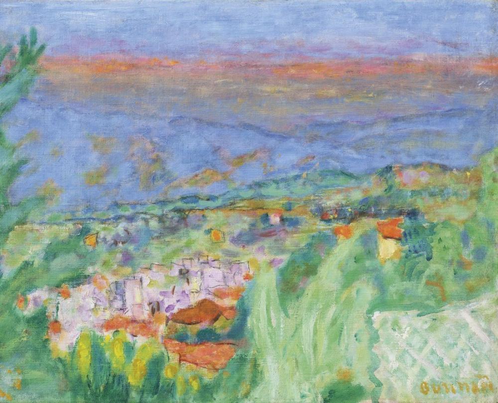 Pierre Bonnard Cannet Manzara III, Kanvas Tablo, Pierre Bonnard, kanvas tablo, canvas print sales