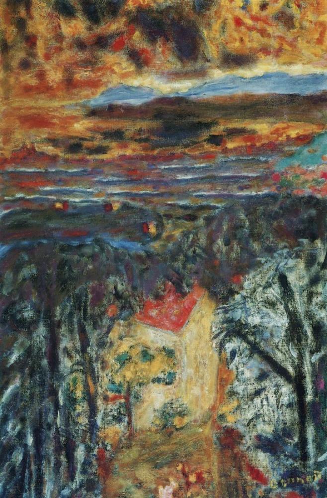 Pierre Bonnard Paysage Du Cannet Au Soleil Couchant, Canvas, Pierre Bonnard, kanvas tablo, canvas print sales