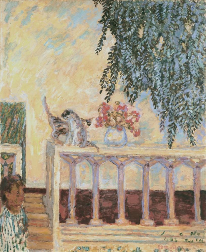 Pierre Bonnard Korkuluk Kedileri, Kanvas Tablo, Pierre Bonnard, kanvas tablo, canvas print sales