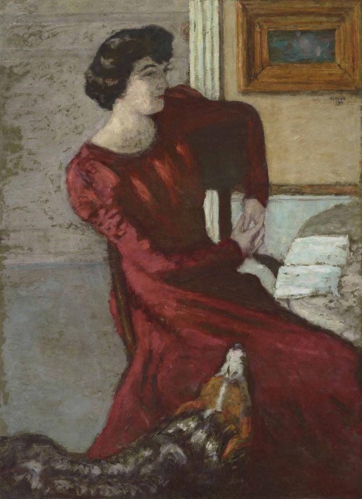 Pierre Bonnard Portrait De Madame Hessel Ou La Dame En Rouge, Canvas, Pierre Bonnard, kanvas tablo, canvas print sales