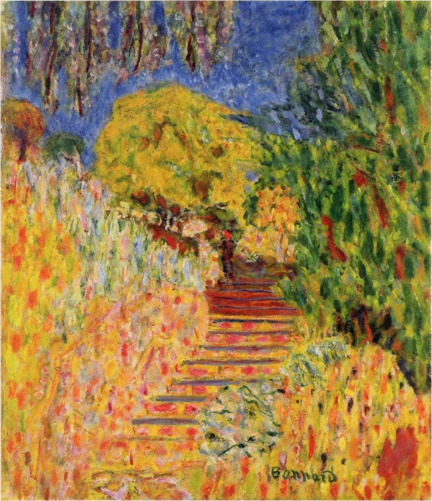 Pierre Bonnard Mimoza İle Merdivenleri, Kanvas Tablo, Pierre Bonnard, kanvas tablo, canvas print sales