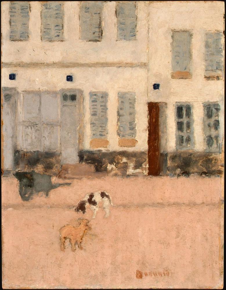 Pierre Bonnard Issız Bir Sokakta İki Köpek, Kanvas Tablo, Pierre Bonnard, kanvas tablo, canvas print sales