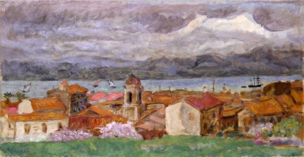 Pierre Bonnard Ville Du Midi Saint Tropez, Canvas, Pierre Bonnard, kanvas tablo, canvas print sales