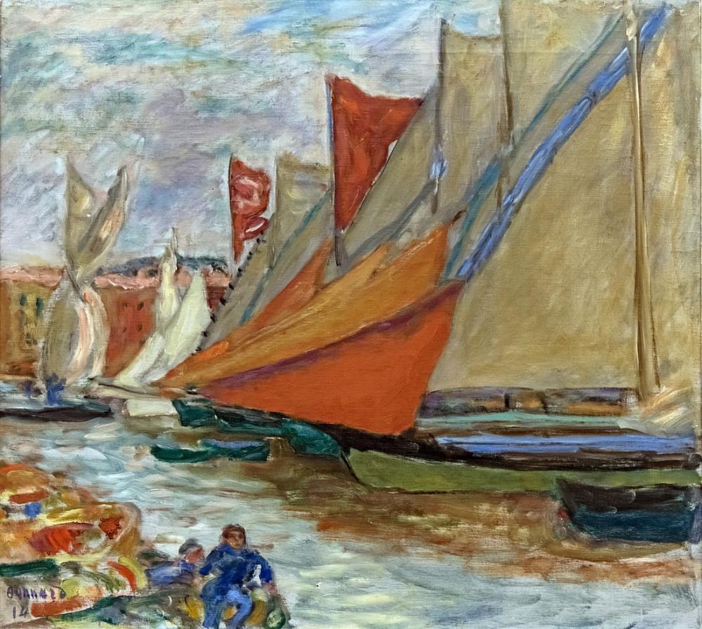 Pierre Bonnard Kuru Yelkenli, Kanvas Tablo, Pierre Bonnard, kanvas tablo, canvas print sales
