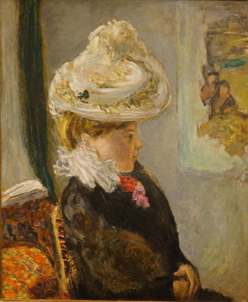 Pierre Bonnard Woman In A White Hat, Canvas, Pierre Bonnard, kanvas tablo, canvas print sales