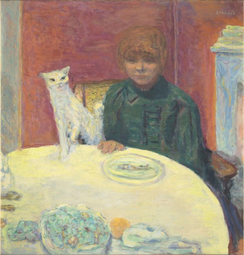 Pierre Bonnard Woman With Cat, Canvas, Pierre Bonnard, kanvas tablo, canvas print sales
