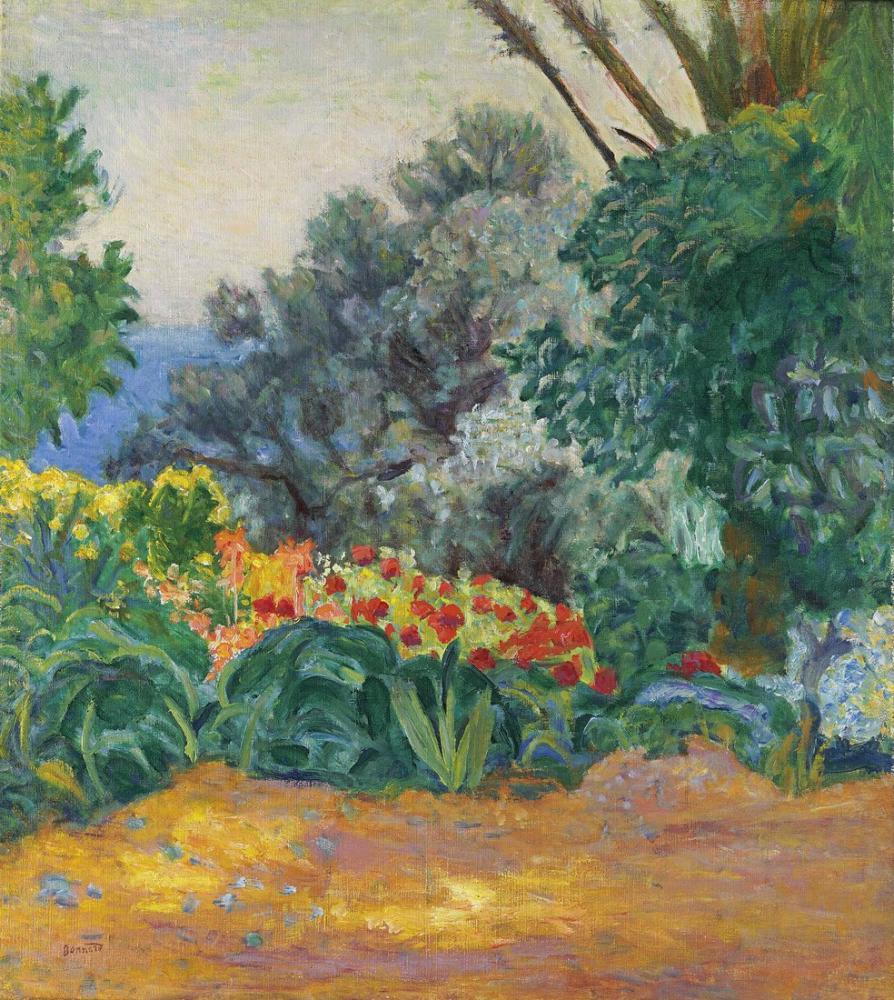Pierre Bonnard Coin De Jardin Fleuri, Canvas, Pierre Bonnard, kanvas tablo, canvas print sales