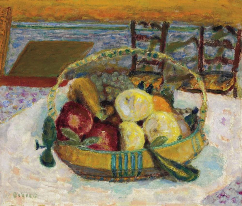 Pierre Bonnard Cannet Yemek Odasında Meyve Sepeti, Kanvas Tablo, Pierre Bonnard, kanvas tablo, canvas print sales