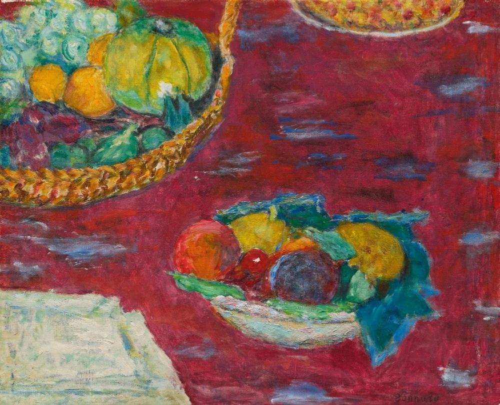 Pierre Bonnard Coupe Et Corbeille De Fruits, Canvas, Pierre Bonnard, kanvas tablo, canvas print sales
