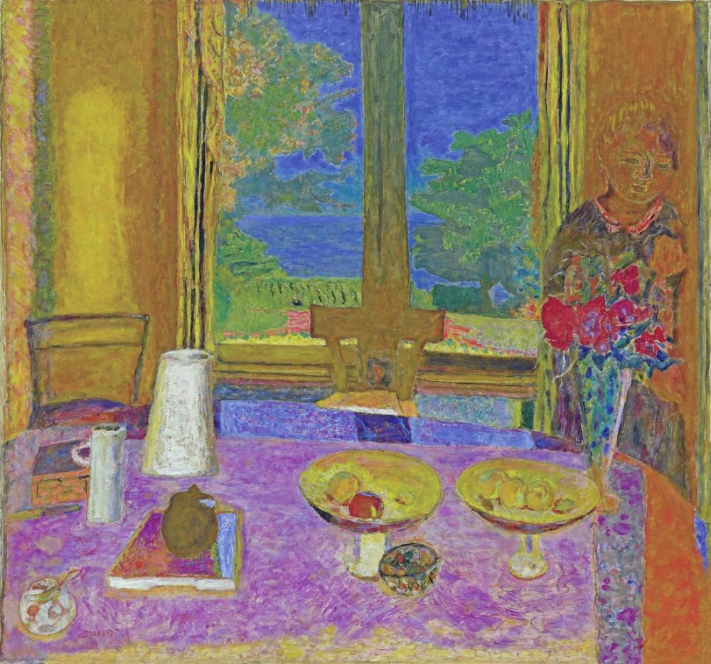 Pierre Bonnard Dining Room On The Garden, Canvas, Pierre Bonnard, kanvas tablo, canvas print sales
