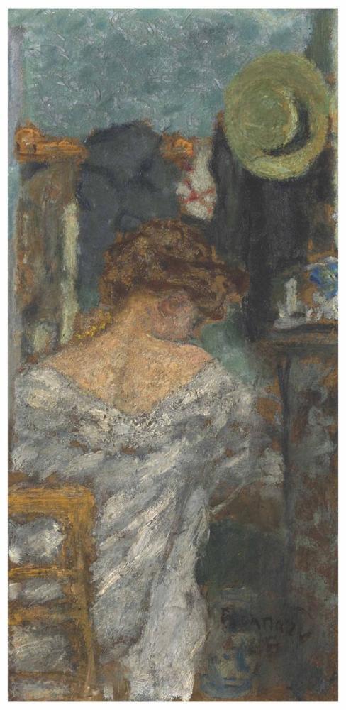 Pierre Bonnard Kadın Arkaya Oturuyor, Kanvas Tablo, Pierre Bonnard, kanvas tablo, canvas print sales
