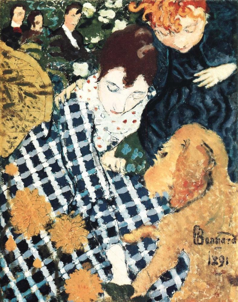 Pierre Bonnard Femmes Au Chien, Canvas, Pierre Bonnard, kanvas tablo, canvas print sales