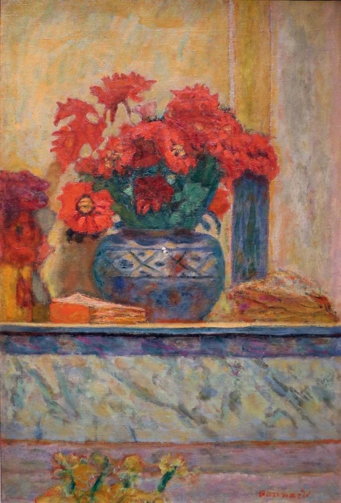 Pierre Bonnard Kırmızı Çiçekler, Kanvas Tablo, Pierre Bonnard, kanvas tablo, canvas print sales