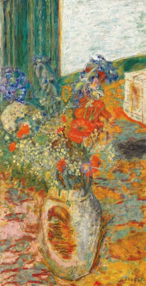 Pierre Bonnard Kumtaşı Bir Tencerede Çiçek Veya Çiçek Cham, Kanvas Tablo, Pierre Bonnard, kanvas tablo, canvas print sales