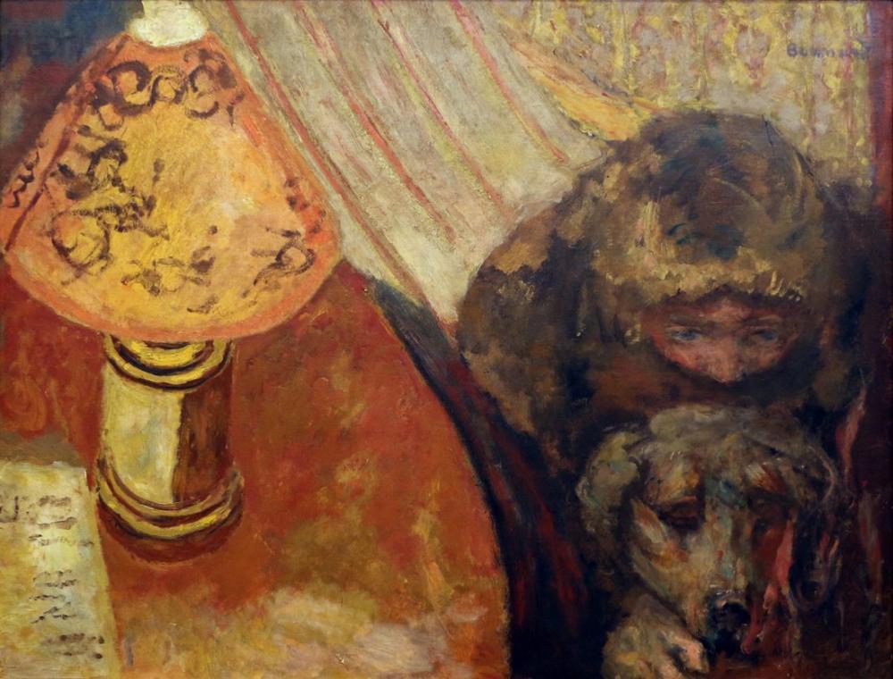 Pierre Bonnard Interno Alla Luce Della Lampada, Canvas, Pierre Bonnard, kanvas tablo, canvas print sales