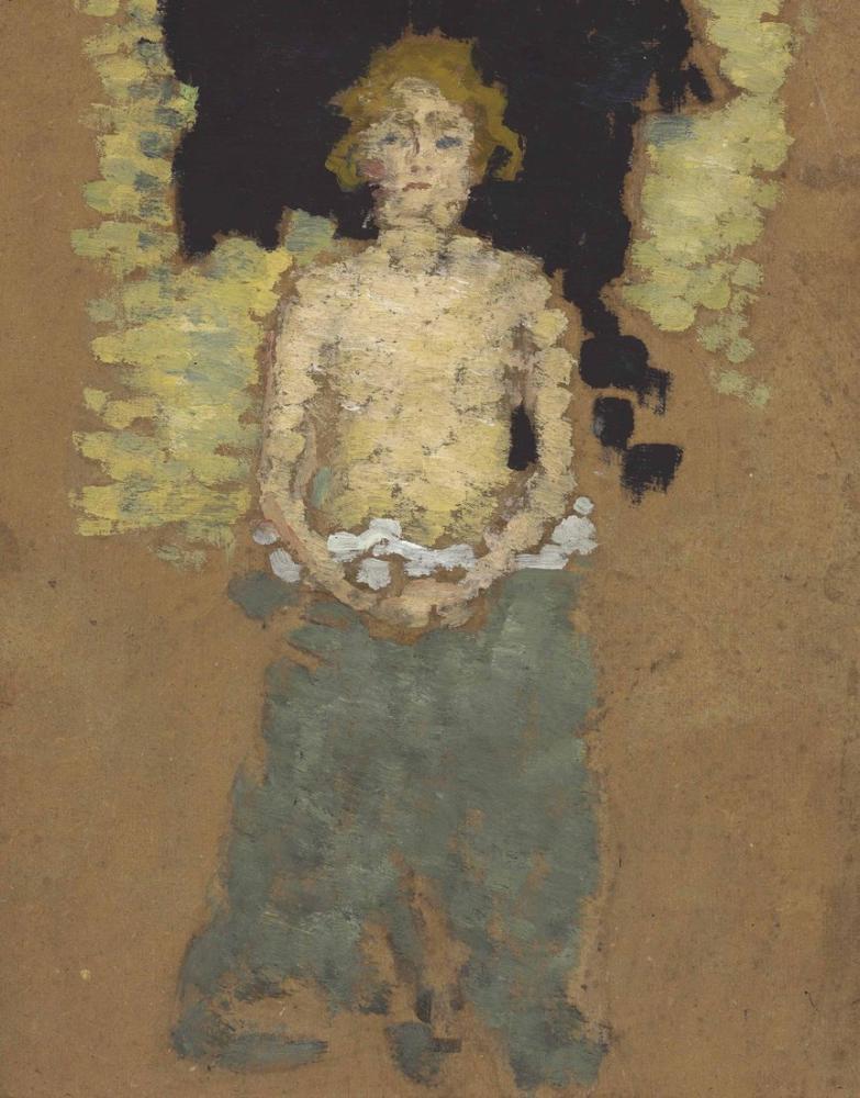 Pierre Bonnard Çıplak Göğüs İle Genç Kadın, Kanvas Tablo, Pierre Bonnard, kanvas tablo, canvas print sales