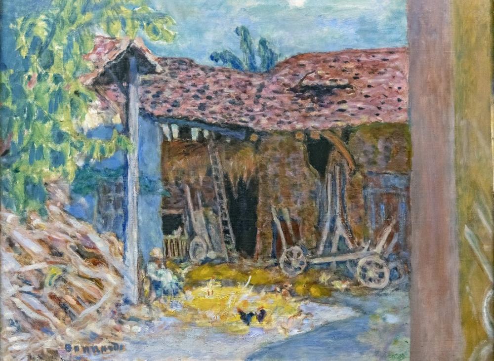 Pierre Bonnard Ahır, Kanvas Tablo, Pierre Bonnard, kanvas tablo, canvas print sales