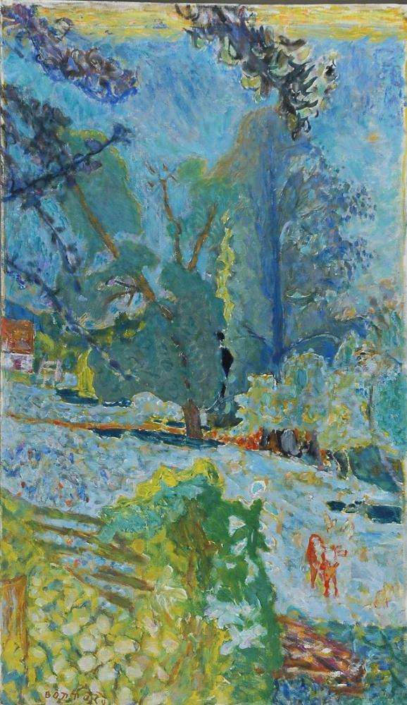 Pierre Bonnard Keçi İle Manzara Genç Kız, Kanvas Tablo, Pierre Bonnard, kanvas tablo, canvas print sales
