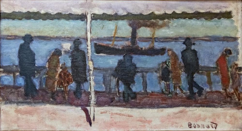 Pierre Bonnard La Promenade Au Bord De La Riviere, Canvas, Pierre Bonnard, kanvas tablo, canvas print sales