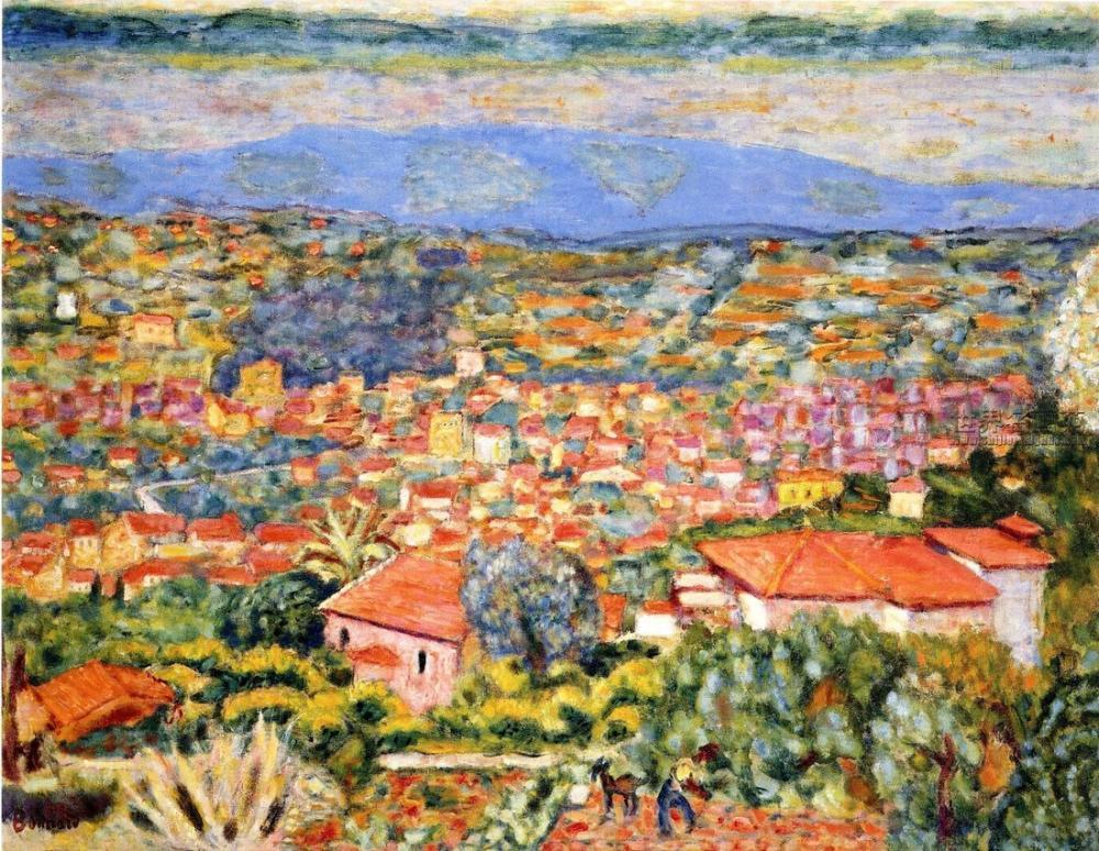 Pierre Bonnard Le Cannet, Kanvas Tablo, Pierre Bonnard, kanvas tablo, canvas print sales
