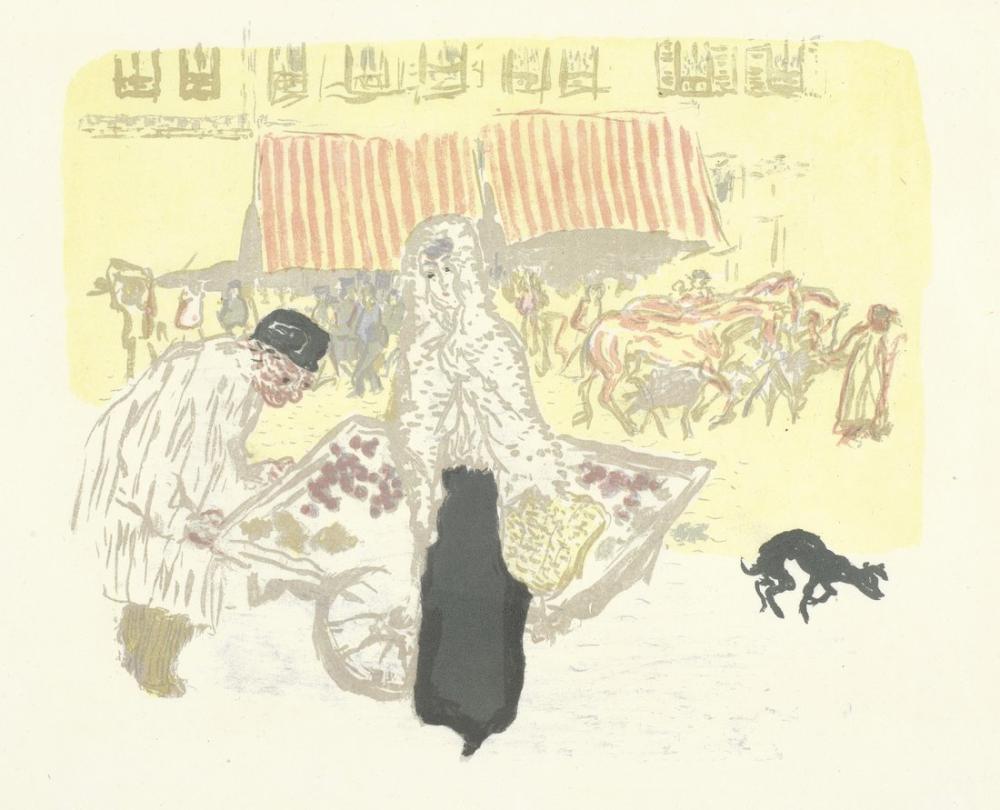 Pierre Bonnard Le Marchand Des Quatre Saisons, Canvas, Pierre Bonnard, kanvas tablo, canvas print sales