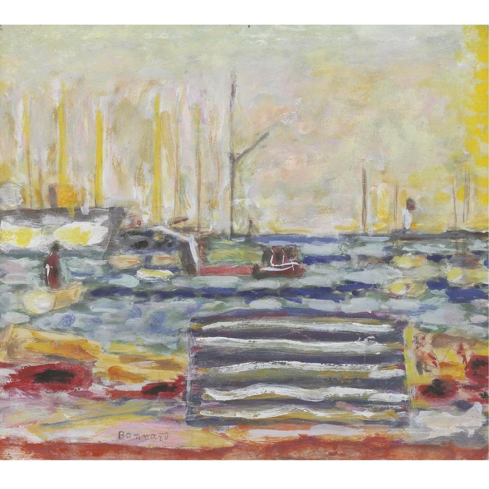 Pierre Bonnard Le Por De Cannes, Canvas, Pierre Bonnard, kanvas tablo, canvas print sales