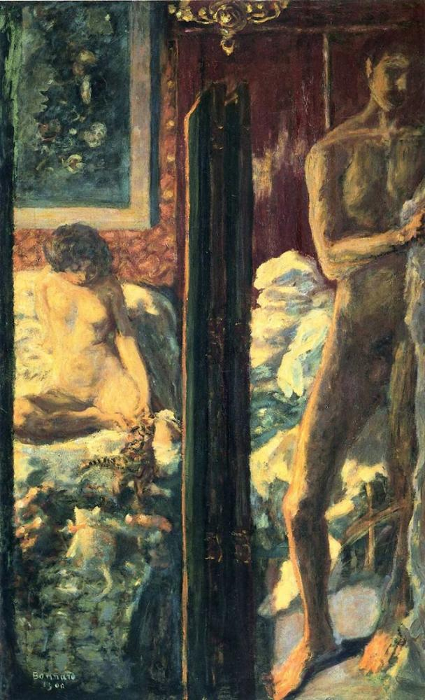 Pierre Bonnard Man And Woman, Canvas, Pierre Bonnard, kanvas tablo, canvas print sales