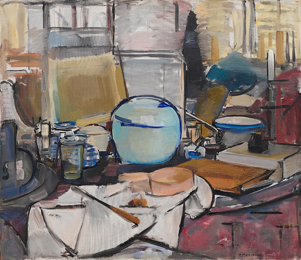 Zencefil Tencere Natürmort 1, Piet Mondrian, Kanvas Tablo, Piet Mondrian, kanvas tablo, canvas print sales