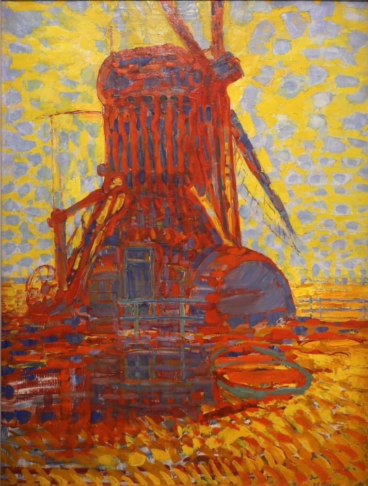 Piet Mondrian The Windmill in Sunlight, Canvas, Piet Mondrian, kanvas tablo, canvas print sales