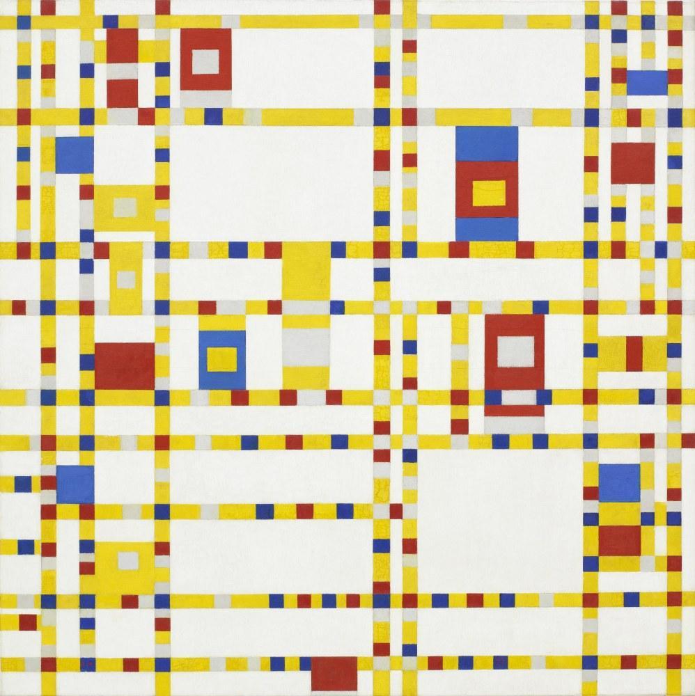 Broadway Boogie Woogie, Piet Mondrian, Kanvas Tablo, Piet Mondrian, kanvas tablo, canvas print sales