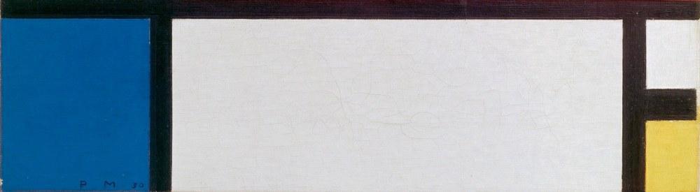 Blue, Yellow, White Composition, Piet Mondrian, Canvas, Piet Mondrian