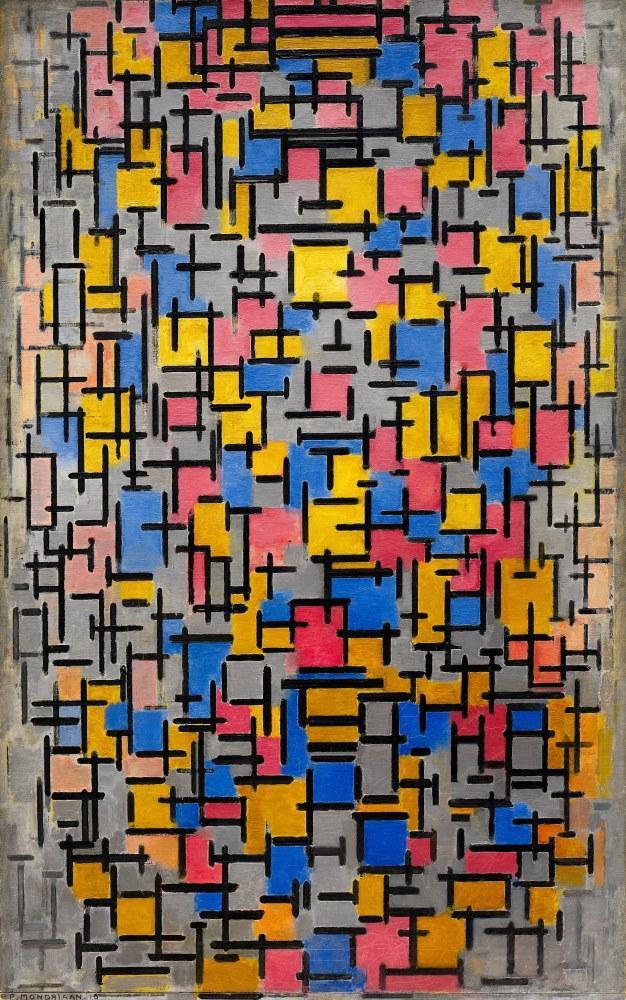Kompozisyon, Piet Mondrian, Kanvas Tablo, Piet Mondrian, kanvas tablo, canvas print sales