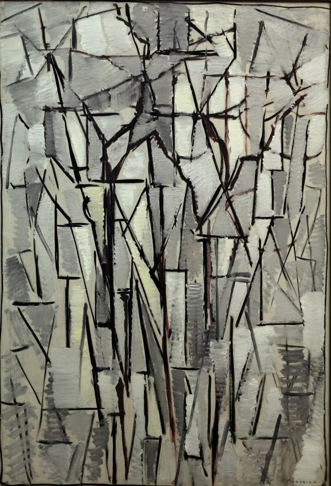Ağaçlar Kompozisyon 1914, Piet Mondrian, Kanvas Tablo, Piet Mondrian, kanvas tablo, canvas print sales
