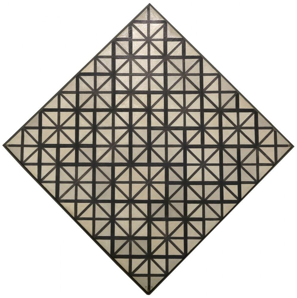 Gri Çizgilerle Kompozisyon, Piet Mondrian, Kanvas Tablo, Piet Mondrian, kanvas tablo, canvas print sales